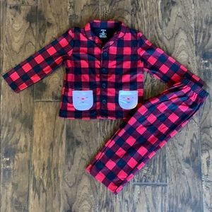 Buffalo 🐃 plaid Santa PJ's size 3T